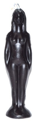 Black Female Figure Candle