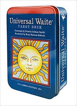 Universal Waite tin by Pamela Colman Smith