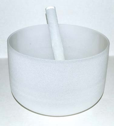 Off White Crystal Singing Bowl