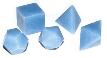 Angelite platonic solids  20mm