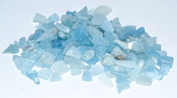 Aquamarine tumbled chips 6-8mm 1 lb