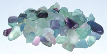 Fluorite tumbled chips 7-9mm 1 lb