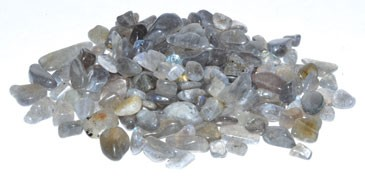 Labradorite tumbled chips 6-8mm 1 lb