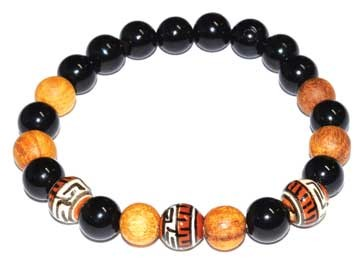 8mm Palo Santo Black Tourmaline bracelet