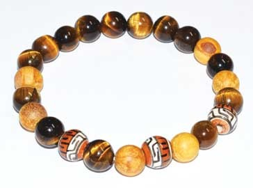 8mm Palo Santo Tiger Eye bracelet