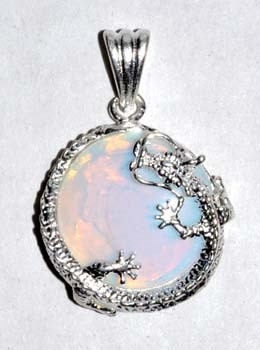 Dragon Opalite gemstone pendant