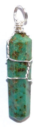 Chrysocolla Wire Wrapped Point