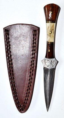 Baby Stag Damascus Athame