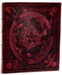 Morrigan Spell Book Red white paper