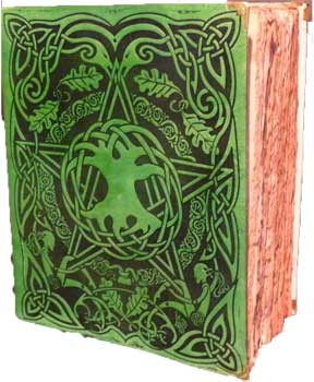 Tree/ Pentagram Spell Book Red ancient parchment