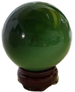 Green Cat's Eye  40mm
