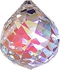 Aura faceted crystal ball  40 mm