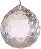 Clear faceted crystal ball  50 mm
