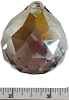 Satin faceted crystal ball