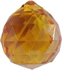 Amber faceted crystal ball  30 mm