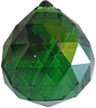 Green faceted crystal ball 30 mm