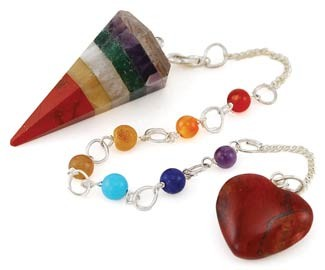 Multi Layer 7 Chakra Gemstone pendulum
