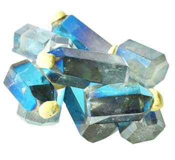 Angel Aqua Blue Crystal points 1 lb