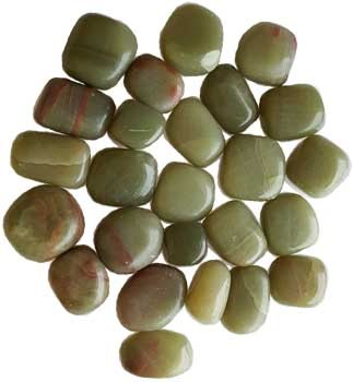 Aragonite, Green tumbled Stone