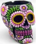 Black Purple Skull ashtray
