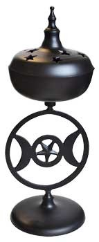 Triple Moon burner black aluminum