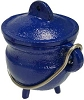 Blue cast iron cauldron  3