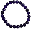 Bracelet 8mm Crystal Purple Jade