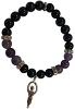 Bracelet 8mm Crystal Purple Goldstone/ Amethyst Goddess