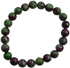 Bracelet 8mm Crystal Ruby Zoisite