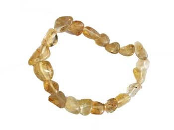 Citrine crystal gemstone bracelet