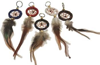 Dream Catcher key chain mixed colors