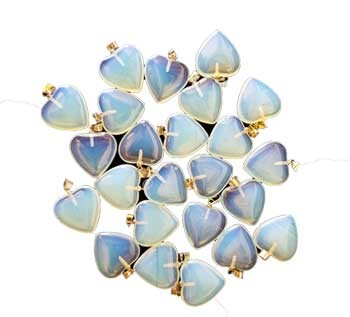 Opalite Crystal Heart Pendant (pack of 24)