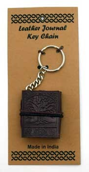 Tree of Life leather journal key chain