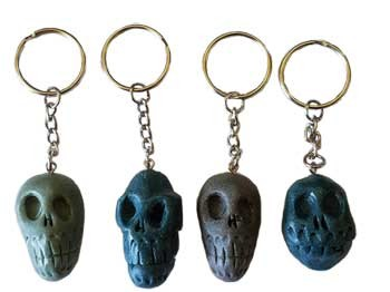 Resin Skull key ring