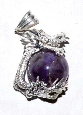 Dragon Amethyst gemstone pendant