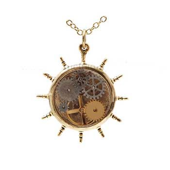 Kinetic Steer Steampunk Pendant