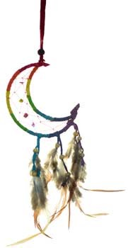 Crescent Moon dream catcher 3