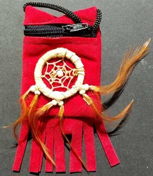 Red bag dream catcher