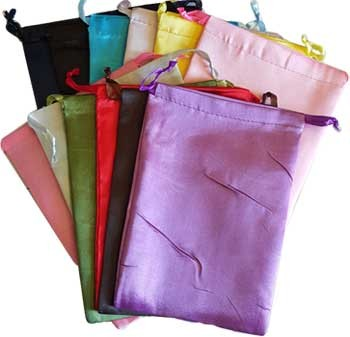 Satin pouches mixed colors
