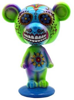 Blue/ Green Day of the Dead bobble head