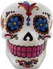 White Day of the Dead ashtray