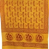 Shiva, Parvati, Ganesha yellow prayer shawl