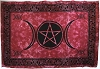Red Triple Moon Pentagram