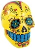 Yellow Day of the Dead Skull box