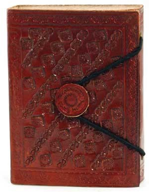 Small Embossed Leather Blank Book