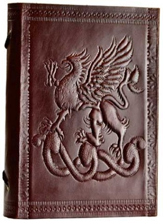 Large Fighting Griffin Leather