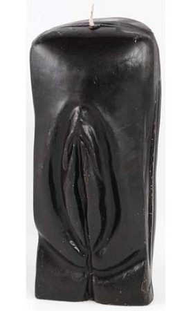 Black Female Genital candle
