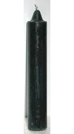 Green Pillar Candle 9""