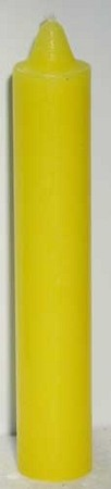 Yellow Pillar Candle 9""