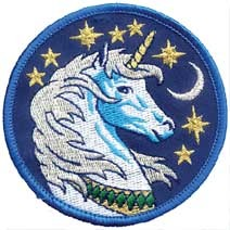 Unicorn iron-on patch 3""